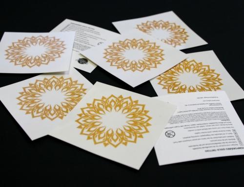 Gold Tattoos für Alcon Pharma produziert