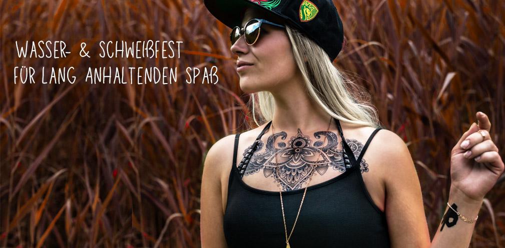 Schwarzes Fake Tattoo