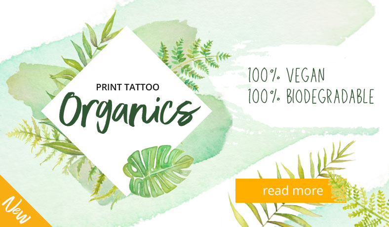 Vegan and biodegradable temporary tattoos