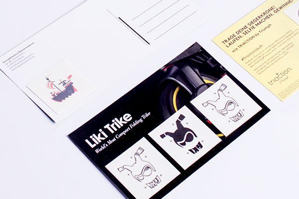 Flyer mit aufgeklebten Tattoos