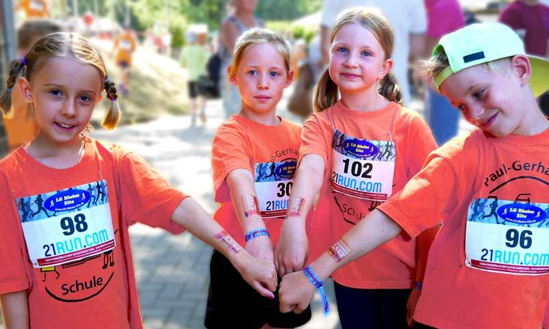 Kinder Tattoos auf Sportevent Sommerlauf