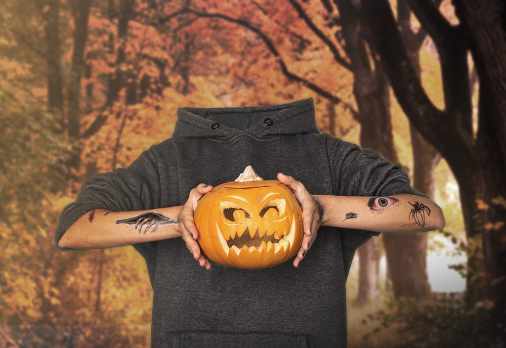 Halloween Schminke Tattoos Hyperrealistic