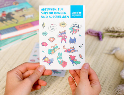 UNICEF Superhelden Klebetattoos für Kinder