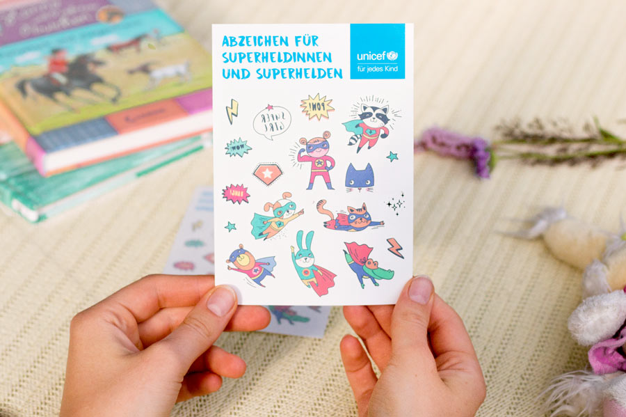 UNICEF Kinder Klebetattoos