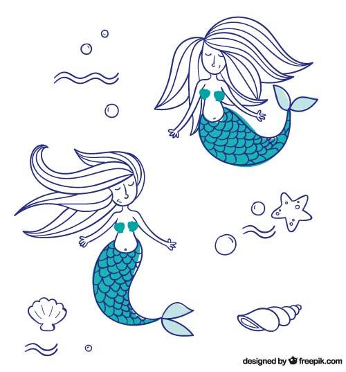 Tattoo-Set Meerjungfrauen